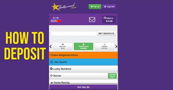 How to Deposit money to Hollywoodbets account